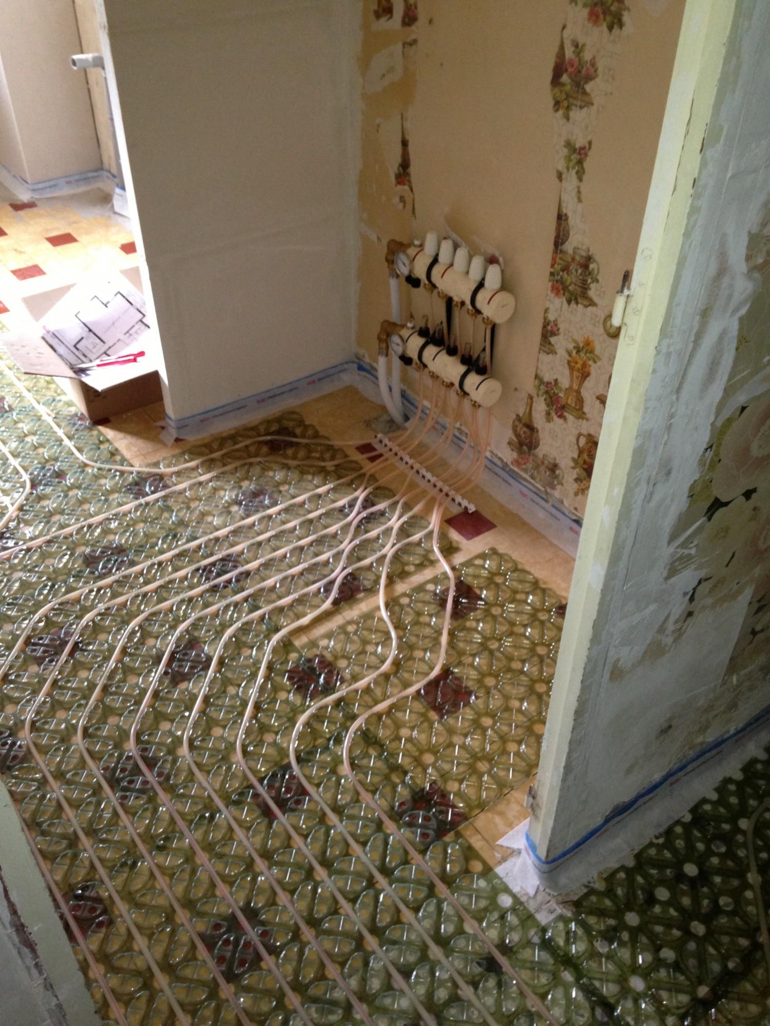 Installation de plancher chauffant mince pour r novation aix en provence 13100 installation et for Plancher chauffant renovation carrelage